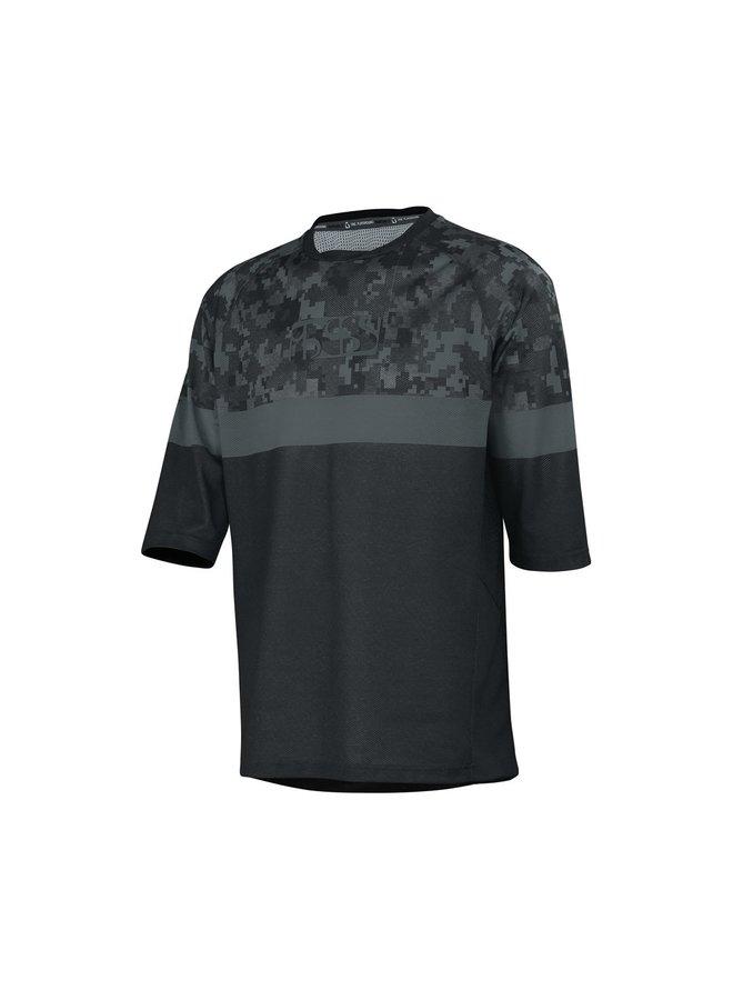 IXS T-Shirt Carve Air Jersey Black Camo (M)