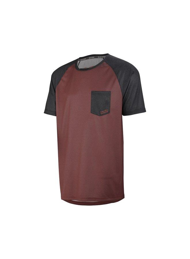 IXS T-Shirt Flow Jersey Night Red  Black (XL)