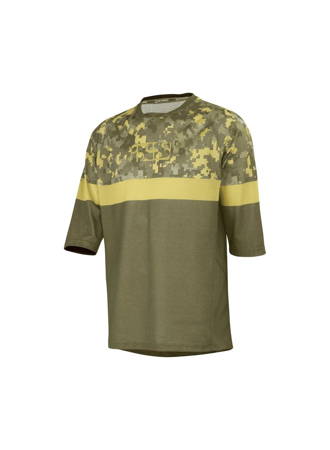 IXS T-Shirt Carve Air Jersey Turf Camo (L)