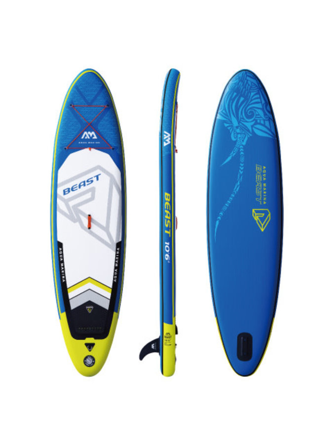 SUP Beast - Advanced All-Around iSUP, 3.2m/15cm, with paddle and safety leash
