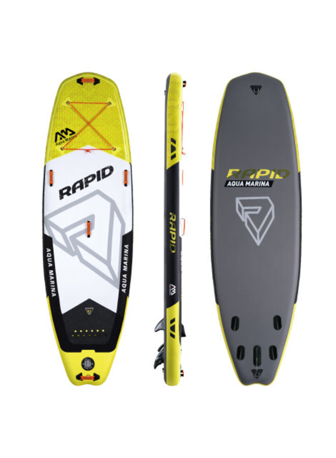 SUP Rapid - White water iSUP; 2.89m/15cm; with safety leash