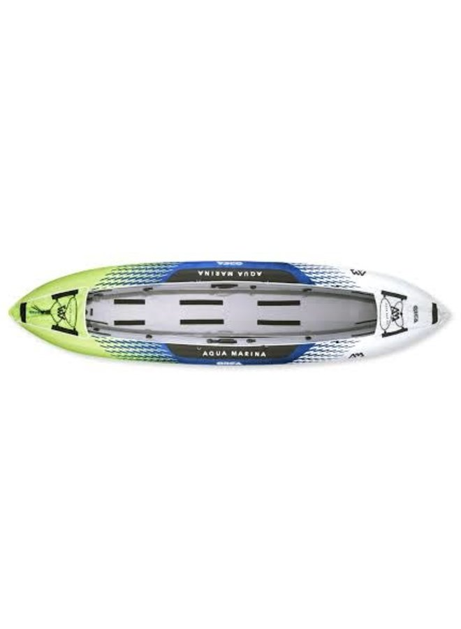 """Inflatable Kayaks & Canoe ORCA 13'9"""" kayak with 2 seats, 11"""" foot pump, carry bag, 2 x BEACH kayak paddles"""