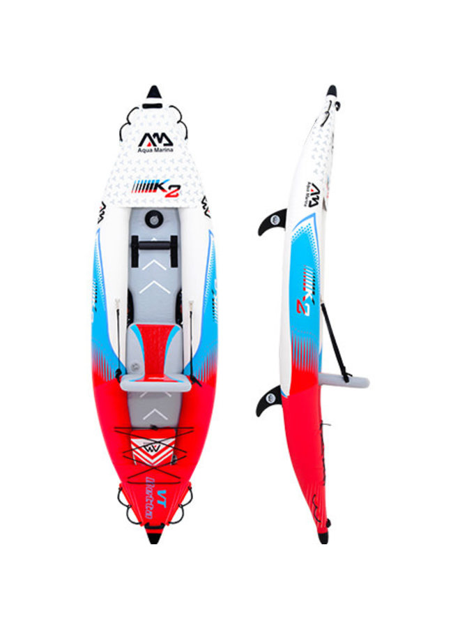 Inflatable kayaks & Canoe Betta VT-K2 Professional Kayak 2- person. DWF Deck (paddle excluded)