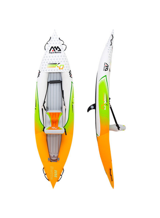 Inflatable Kayaks & Canoe Betta HM-K0 Leisure Kayak-1 person.Inflatable deck.kayak paddle included.