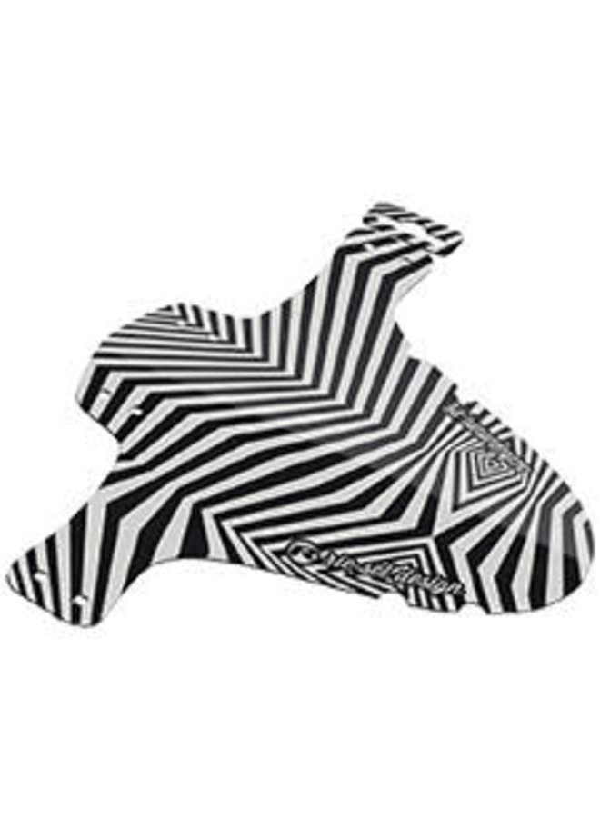 Parafango Anteriore a Fascette Mudguard - zebra