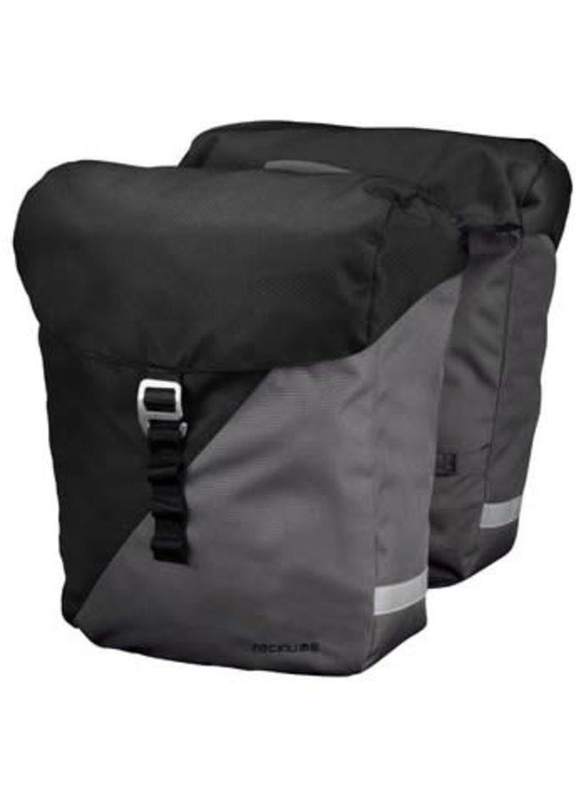 Racktime VIDA borse laterali Double Bag carbon black /stone grey - 24;5L