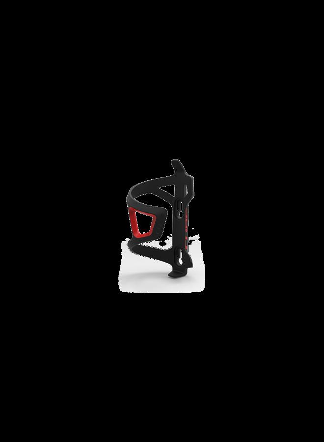 Portaborraccia Cube uscita laterale - black&red
