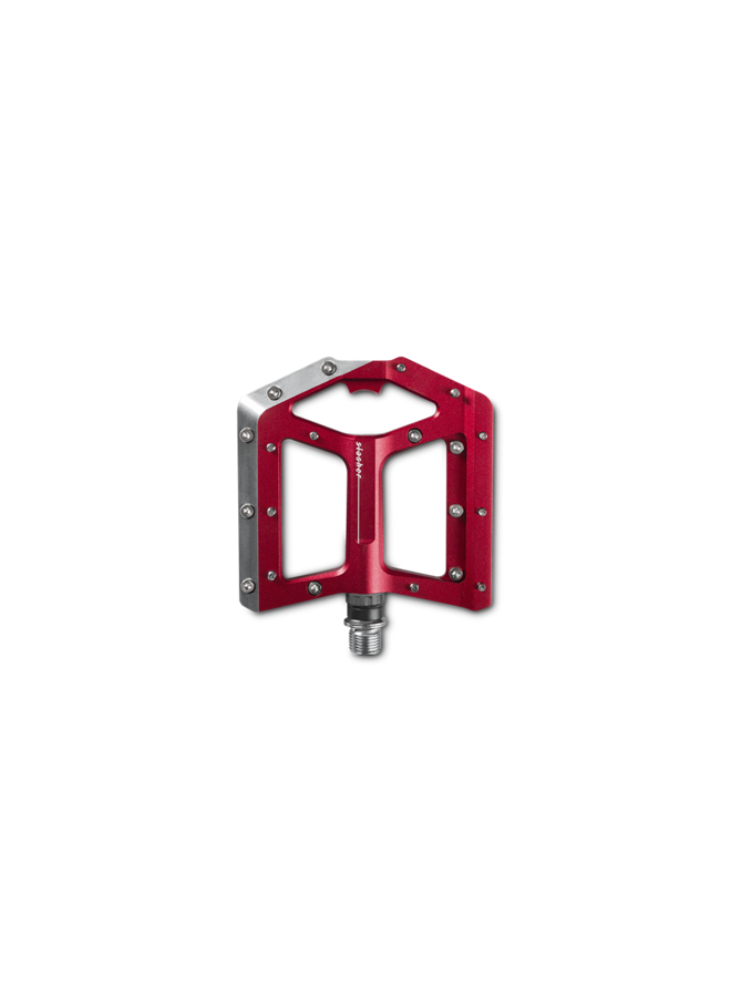 CUBE Slasher pedali flat - red