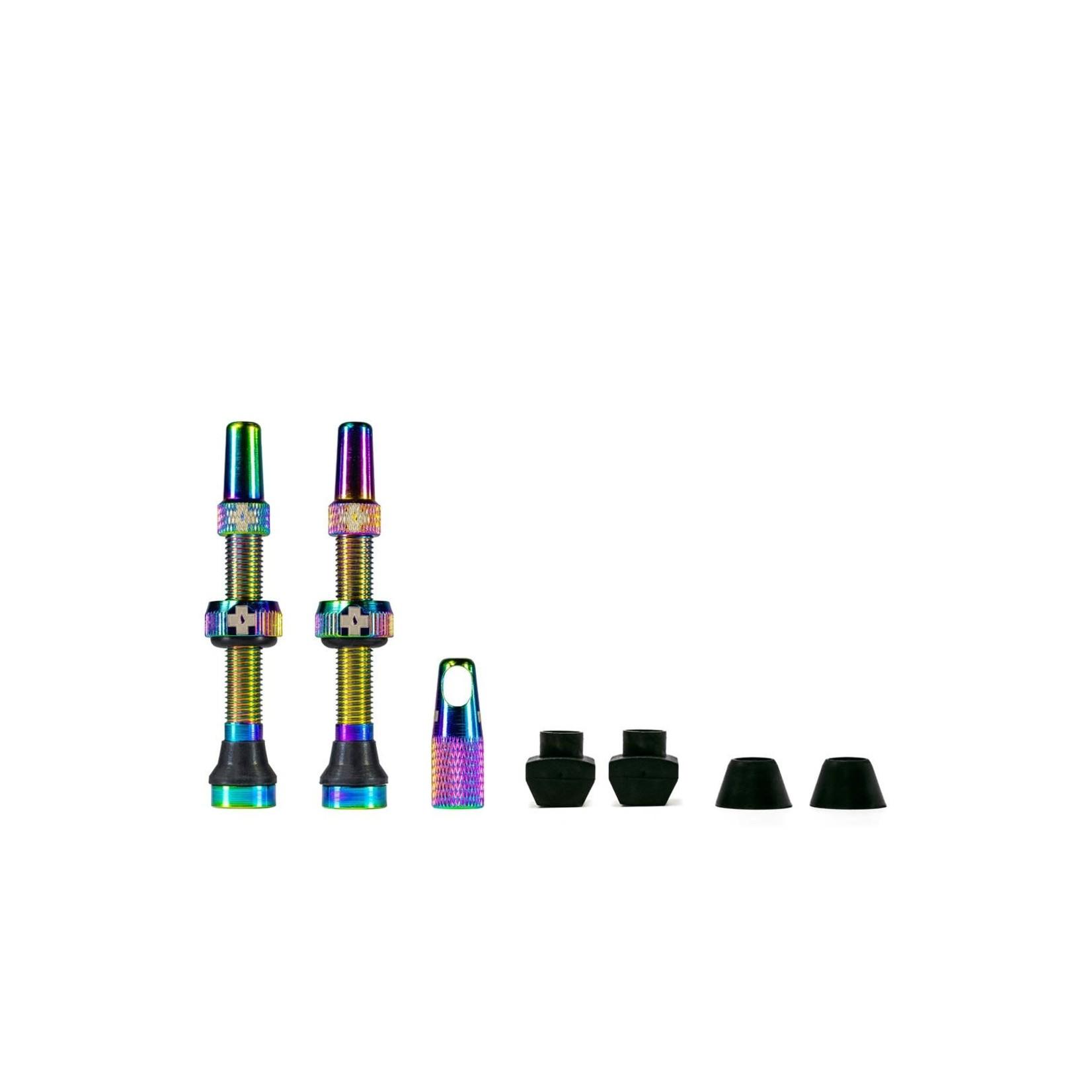 Muc-Off Muc-Off kit valvola tubeless 44mm - arcoiris