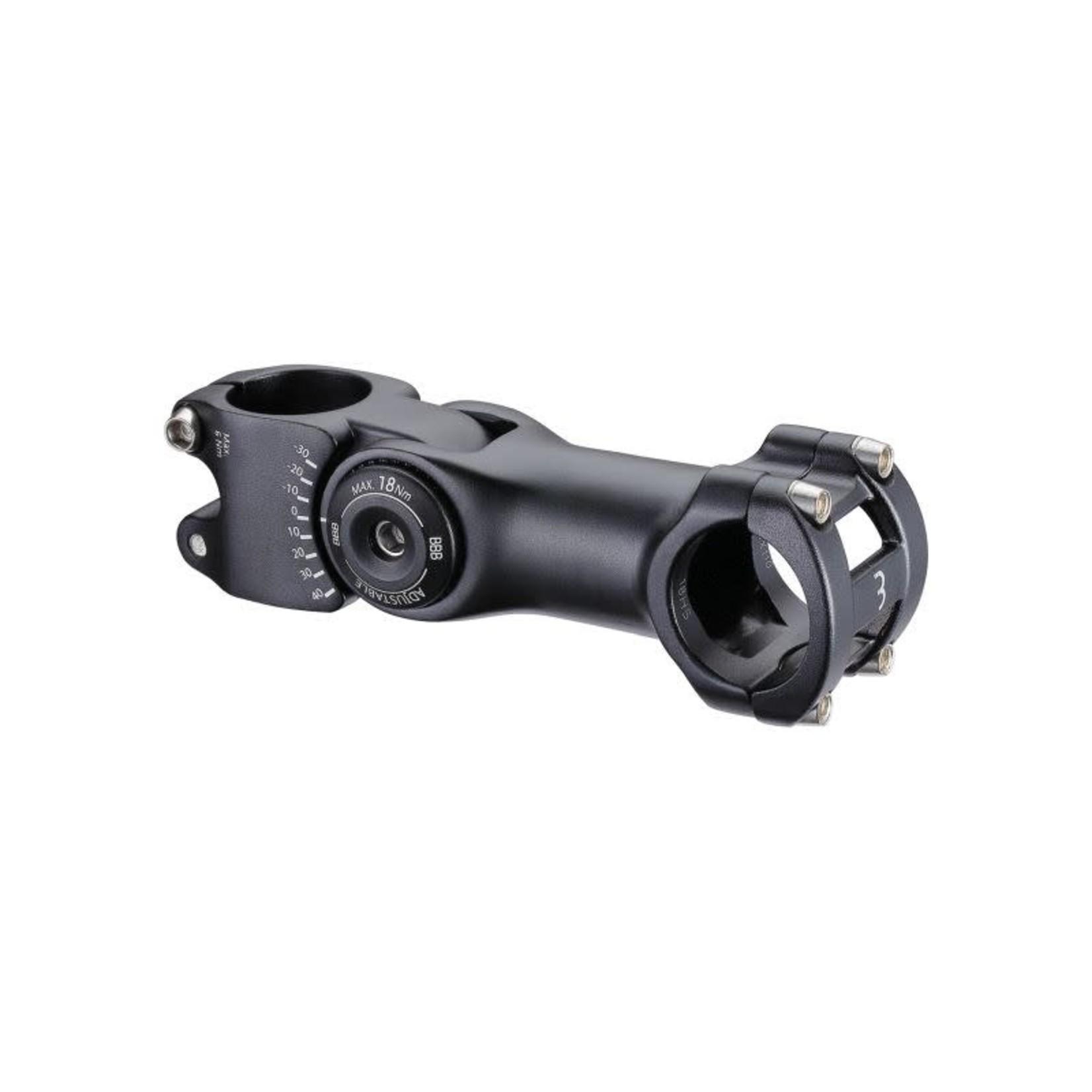 BBB BBB Vorbau regolabile  130mm 31.8mm (+40º/-30º) nera