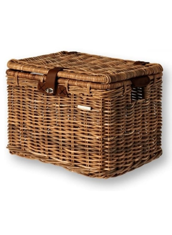 Basil Cesto  Basket DENTON Rattan Look vimini coperchio
