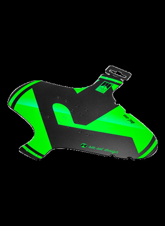 Parafango anteriore fascette mudguard verde