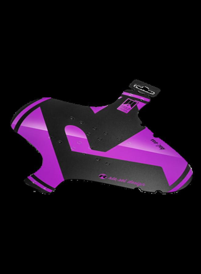 Parafango anteriore fascette mudguard viola