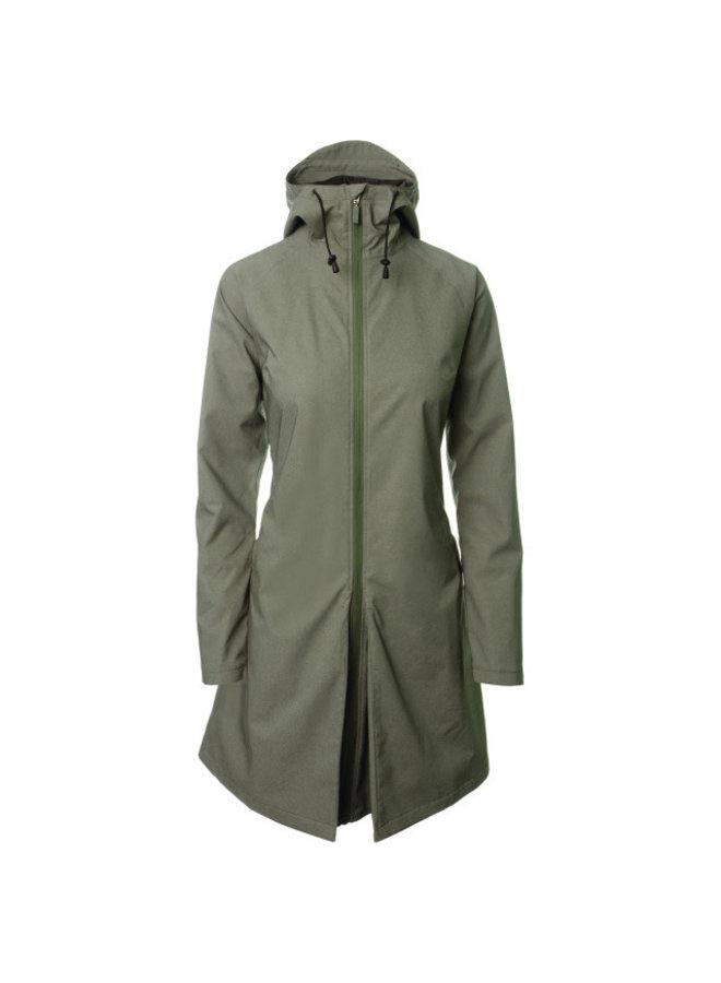 AGU SEQ Urban giacca pioggia verde donna
