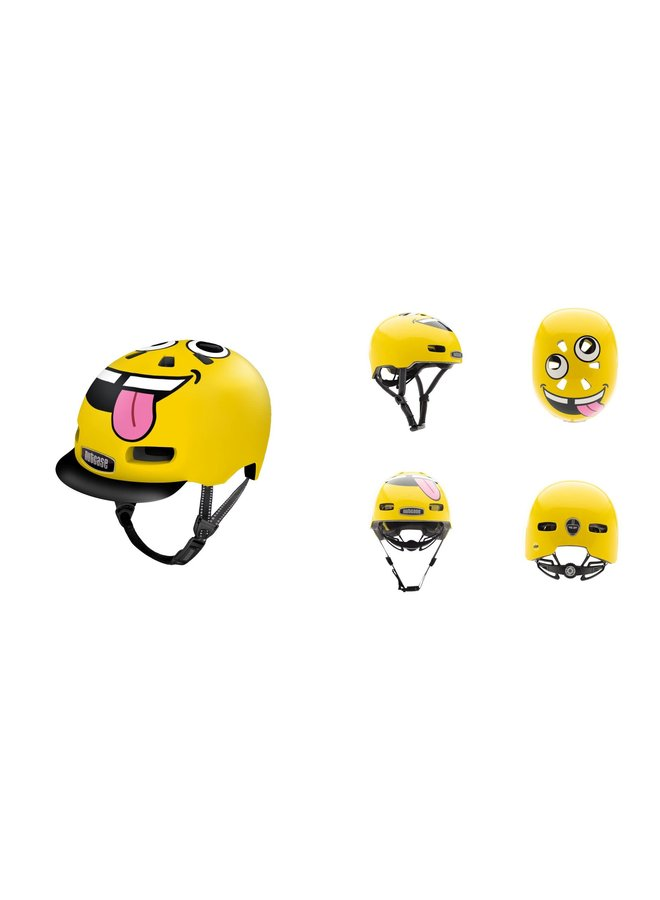 Nutcase - Casco LITTLE NUTTY TONGUES OUT 48-52CM, MIPS, 360° REFLEXION, 11 VENTILATION
