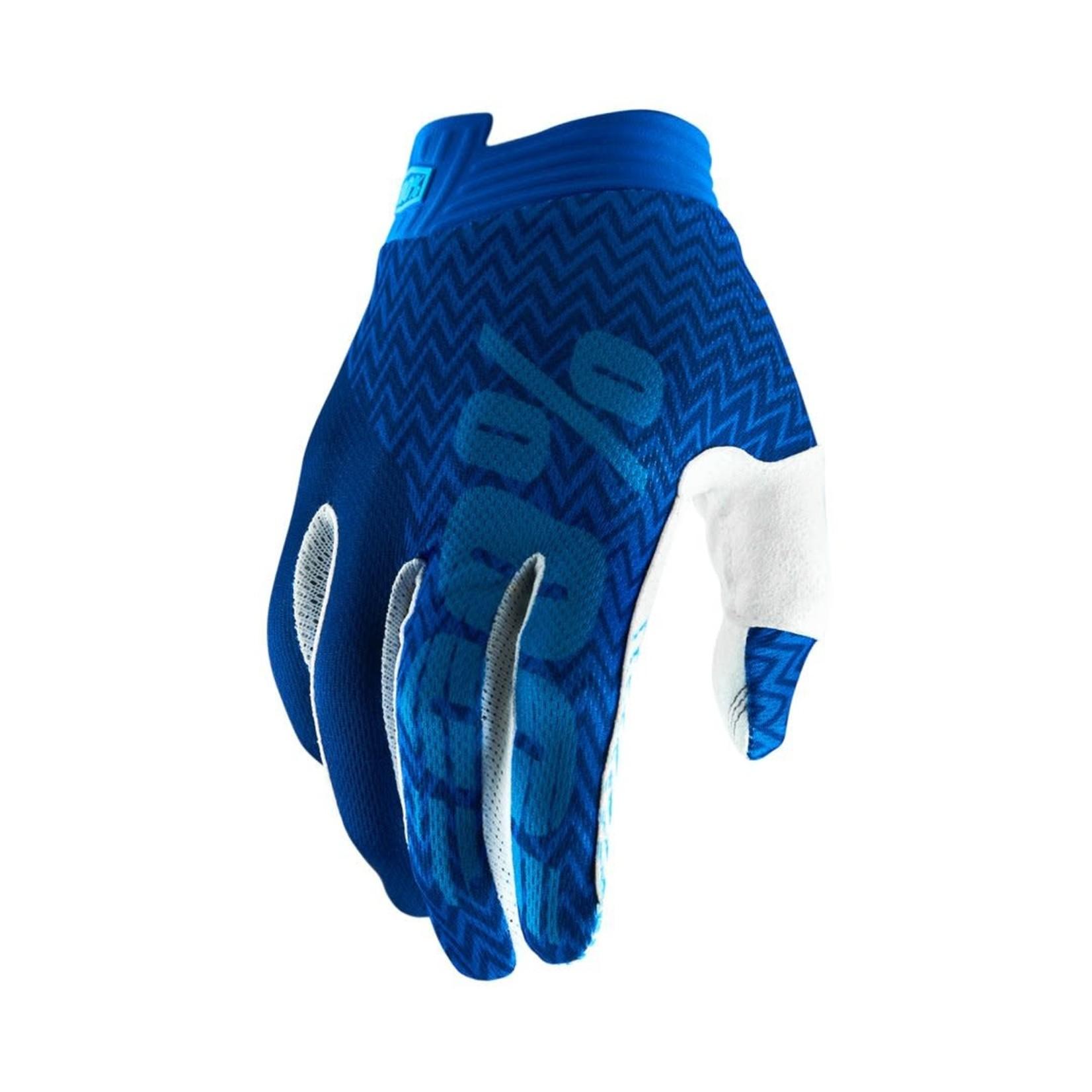100% 100% - Handschuhe iTrack blu/bianchi