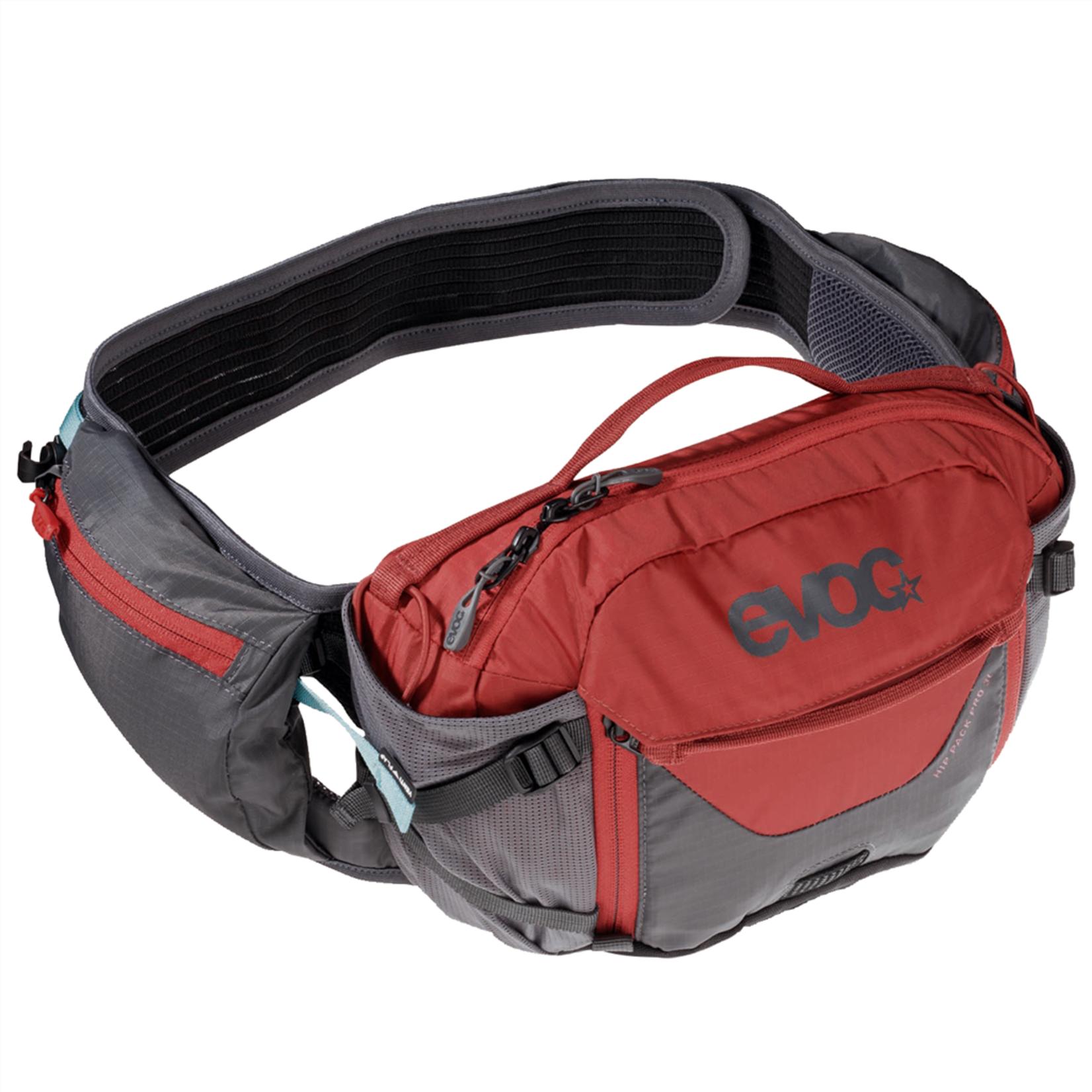 EVOC EVOC HIP PACK PRO 3L + 1,5L BLADDER carbon grey/chili red