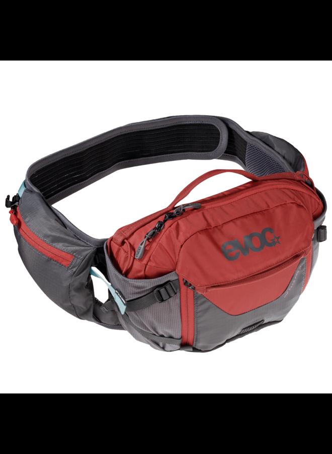 EVOC HIP PACK PRO 3L + 1,5L BLADDER carbon grey/chili red
