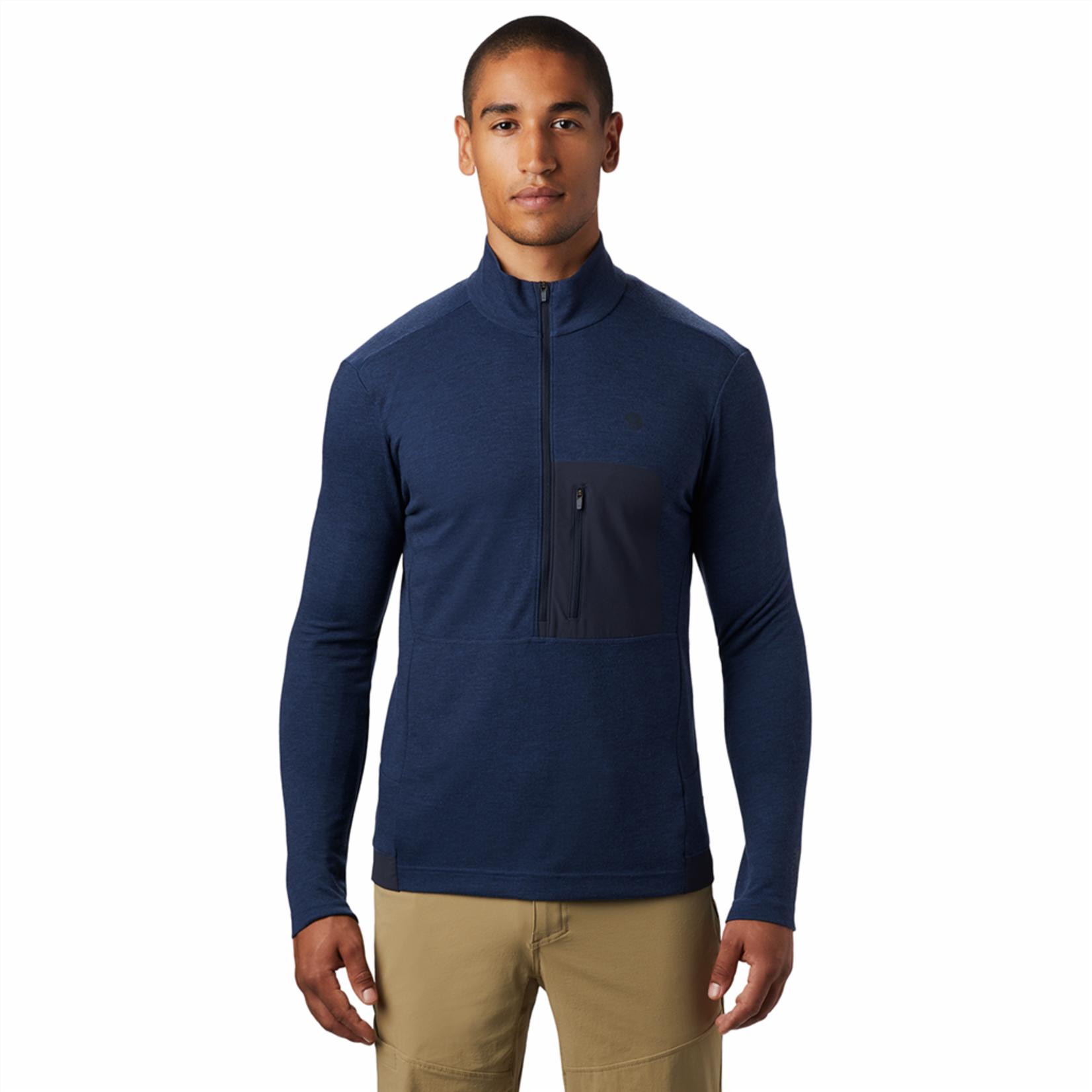 Mountain Hardwear Mountain Hardwear - Trikot 1/2 zip  blu tgl M