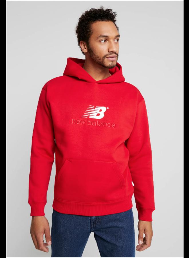 New Balance - Felpa athletics premium tgl M rosso