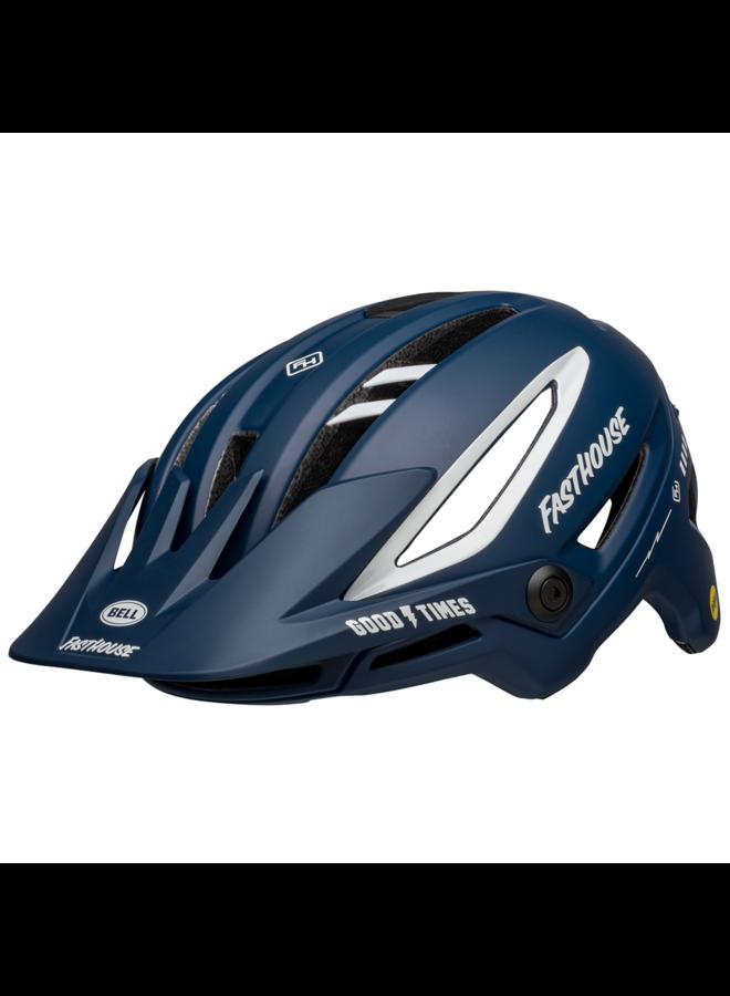 Bell - casco Sixer - Mat gloss blue white