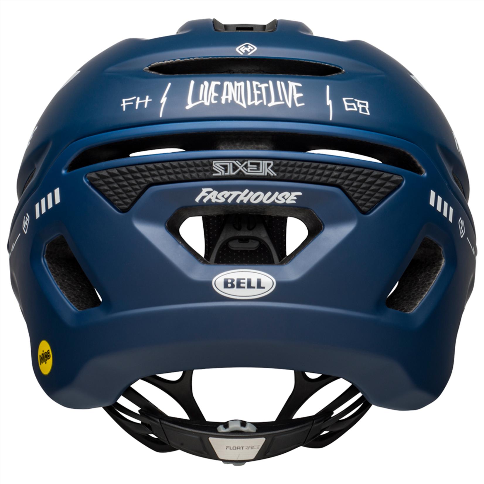 Bell Bell - Helme Sixer - Mat gloss blue white