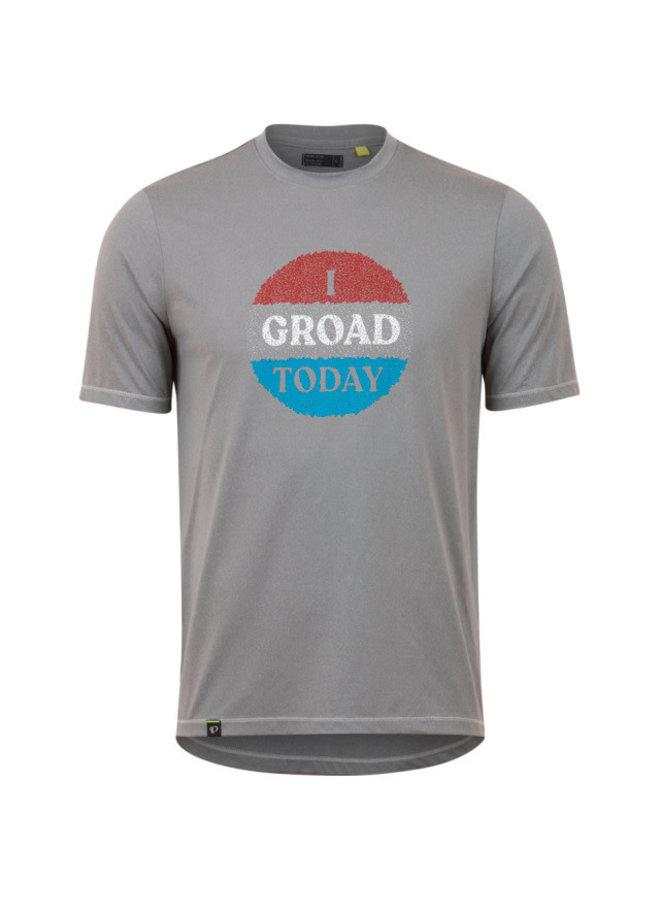 Pearl iZUMi maglietta Midland TEE frost grey red groad