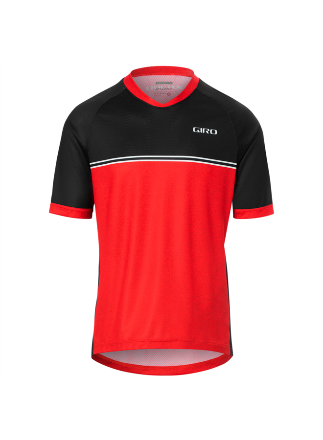 GIRO - maglietta MTB Roust Jersey - Bright red raceline