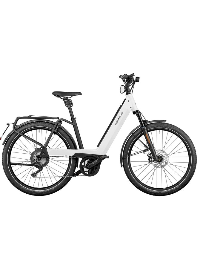 RIESE&MÜLLER - Nevo3 GT Touring - Pure White - 47cm - 500Wh - Nyon