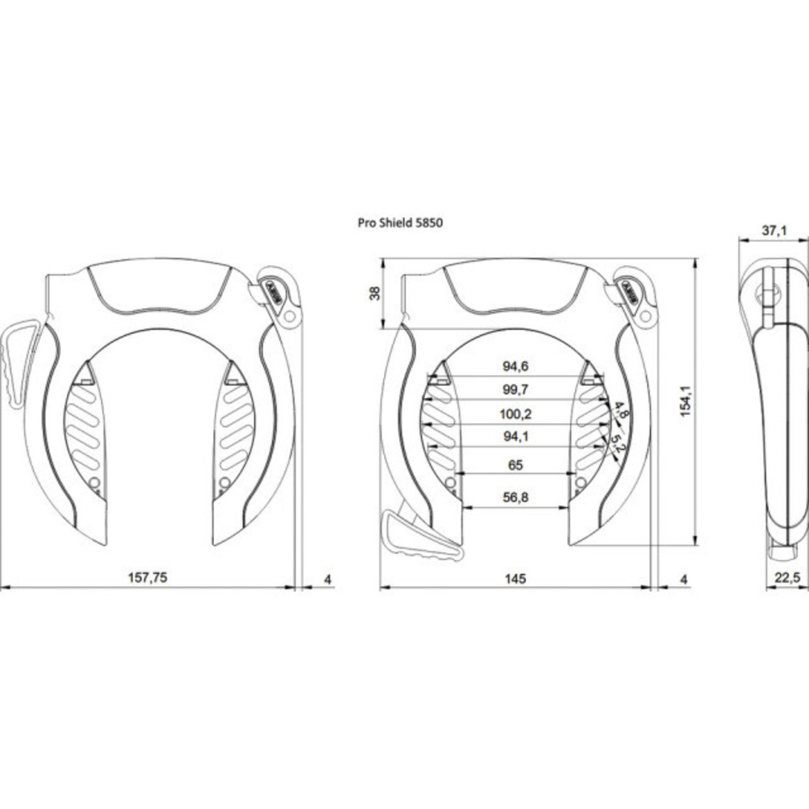 ABUS ABUS - Rahmenschloss Pro Shield 5850