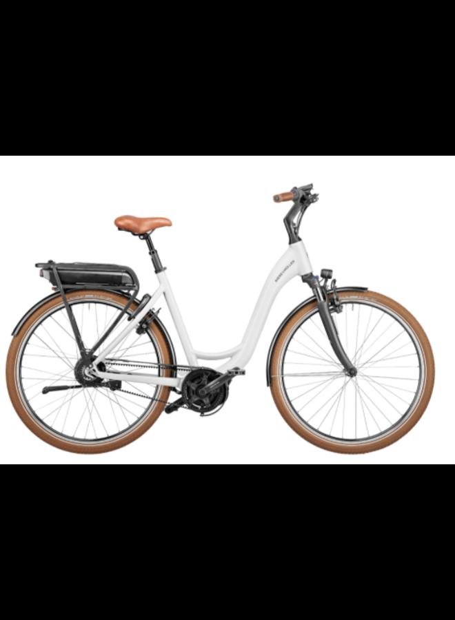 RIESE - MÜLLER - Swing3 vario urban - 500Wh - 46cm - crystal white - cestino delantero e cestini portapacchi - enviolo