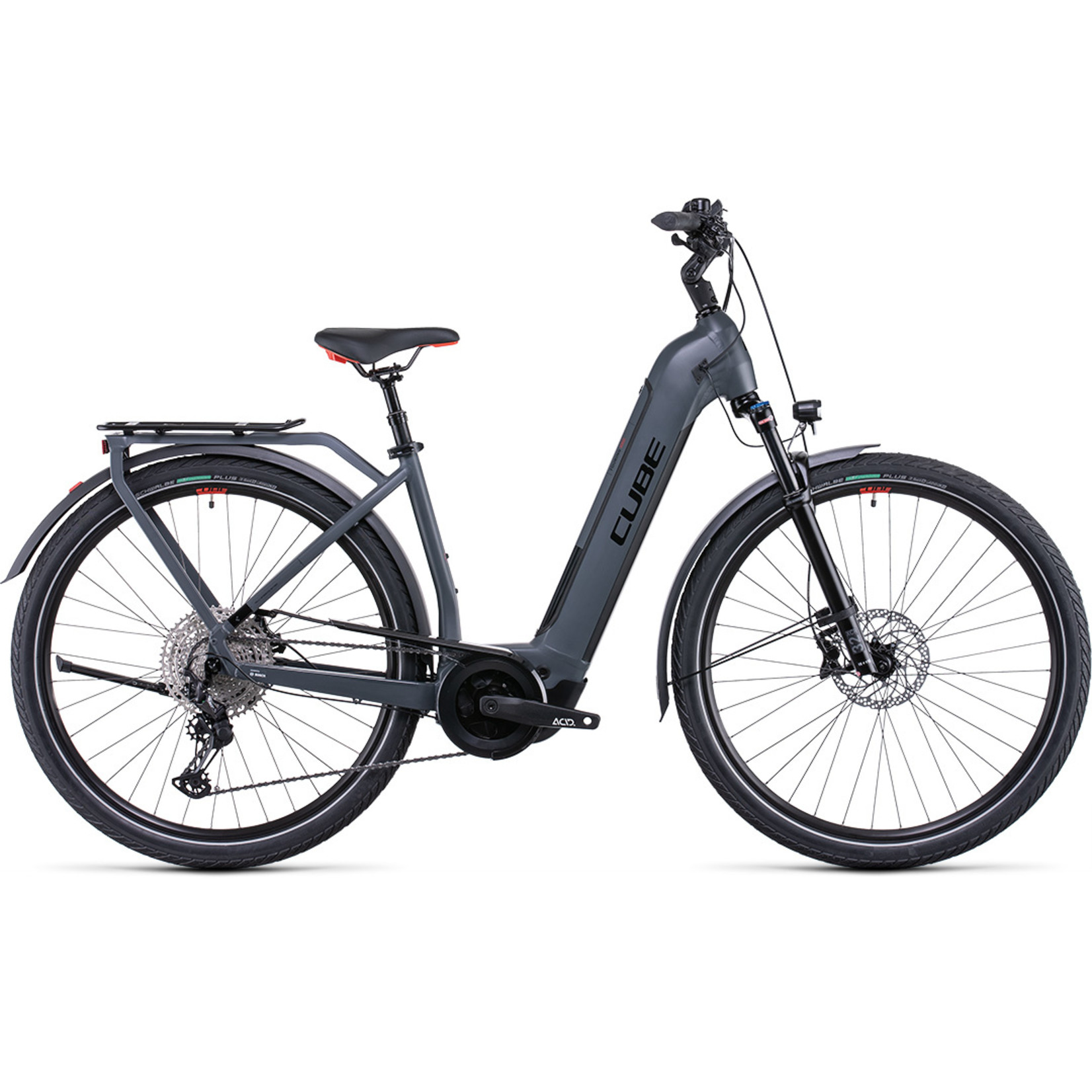 Cube Touring Hybrid EXC 625 grey´n´red