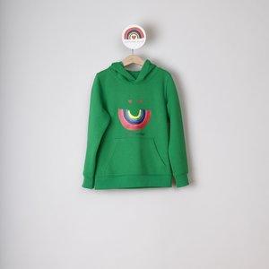 hoodie kids green happy smiles