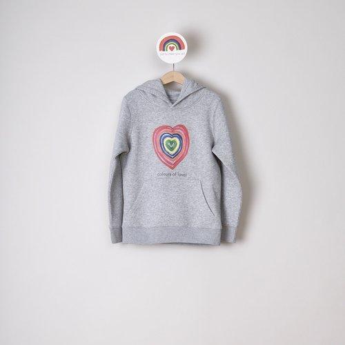 hoodie kids grey colours of love