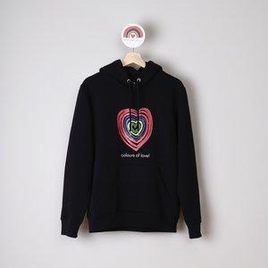 hoodie unisex zwart colours of love