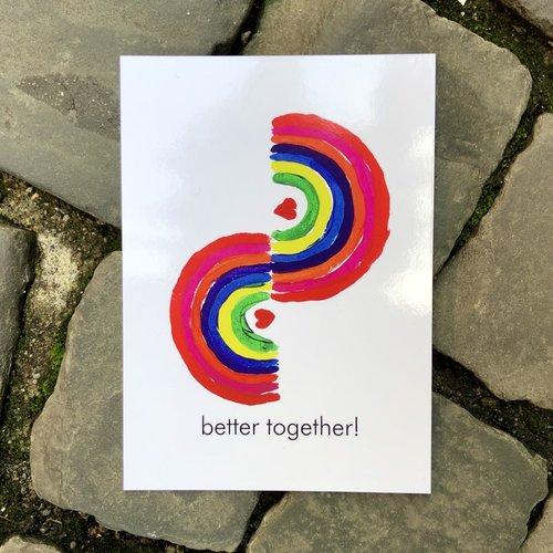 ansichtkaart better together