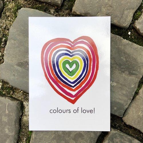 ansichtkaart colours of love