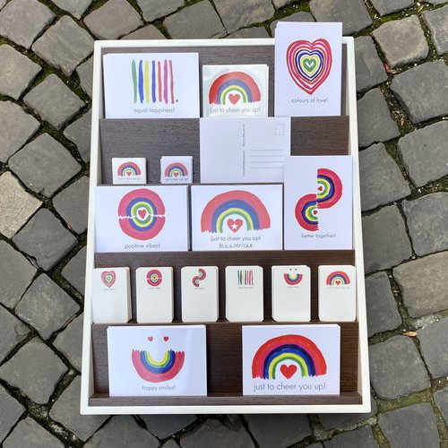 postal card equal happiness