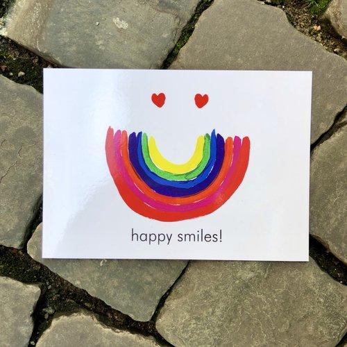 postal card happy smiles