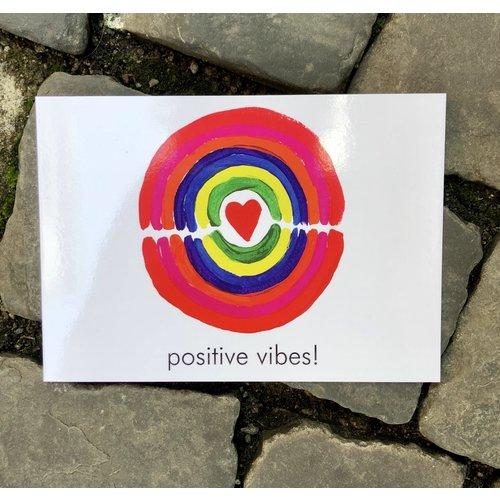 ansichtkaart positive vibes