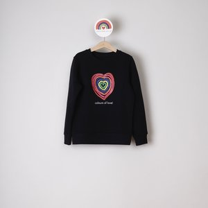 sweater kids zwart colours of love
