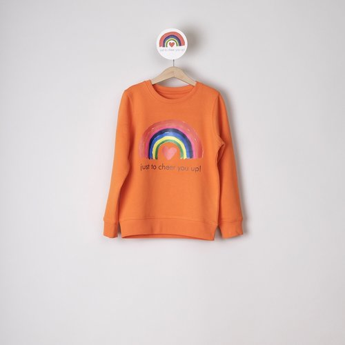 sweater kids orange just to cheer you up
