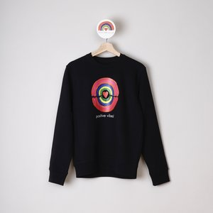 sweater unisex black positive vibes