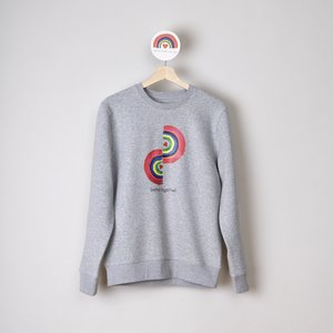 sweater unisex grey better together