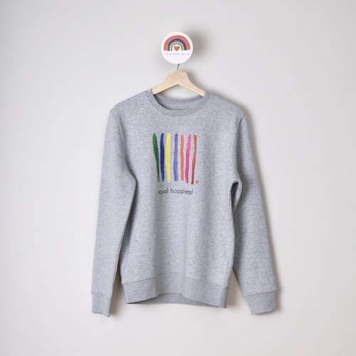sweater unisex grijs equal happinnes