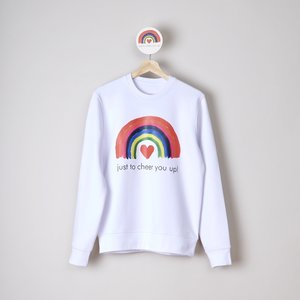 sweater unisex white just to cheer you up