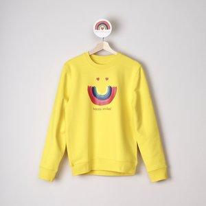 sweater unisex yellow happy smiles