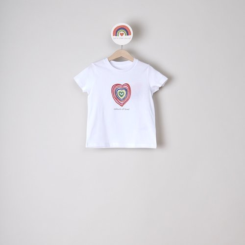 t-shirt kids colours of love