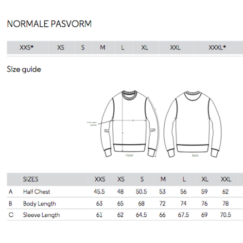 sweater unisex geel happy smiles