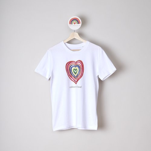 t-shirt unisex colours of love
